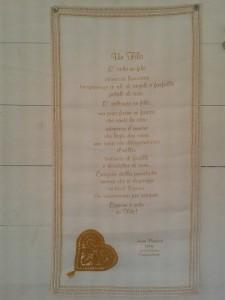 Un quadro realizzato da Tamara Galeotti con tecniche miste e stampa in oro della poesia di Anna Poletti - Tamara Galeotti@copyright