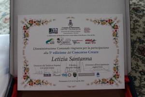 Attestato di Partecipazione di Letizia Santanna