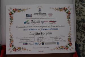 Attestato di Partecipazione - Lorella Forconi