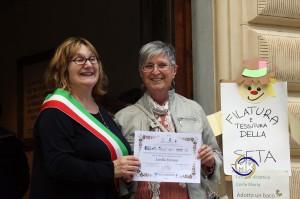 Maurizio Rivi@copyright Lorella Forconi ritira il proprio Attestato di Partecipazione