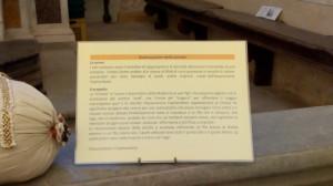 Il dettaglio della spiegazione del progetto della realizzazione della Cintola